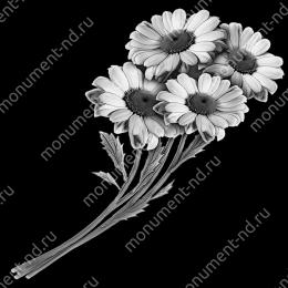 Гравировка цветы Цв-019 32 х12 / ≤ 40х60 см.