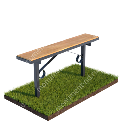 Стол и лавочка Л-003 80х100х20 см