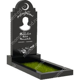 Мусульманский памятник М-015 цвет черный 100*50*5