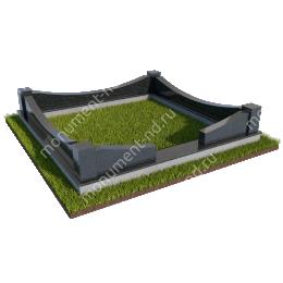Гранитные ограды ГО-016 200х180 см.