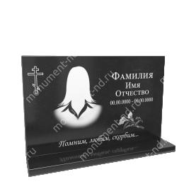Гранитная табличка на могилу Т-014 Размер: 40х60х2 см.
