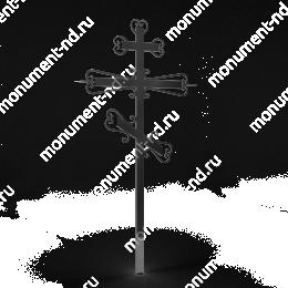Крест на могилу Кр-016   металл 200х70 см