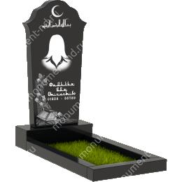 Мусульманский памятник М - 010 цвет черный 100*50*5