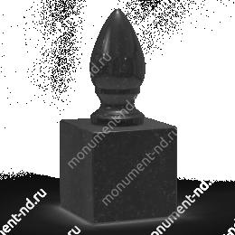 Шар из гранита Ш-017 гранит цвет чёрный/красный/серый от ø 10 см