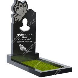 ПБ-39 Памятник с барельефом гранит габбро цвет черный 100*50*8