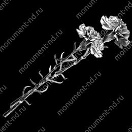 Гравировка цветы Цв-002 30х12 см
