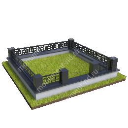 Гранитная ограда ГО-060