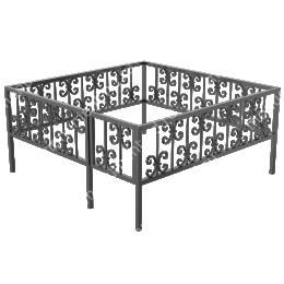 Ограда кованная ОK-40 200х180 см