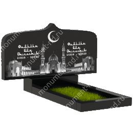 Мусульманский памятник М -032 цвет черный 100*50*5