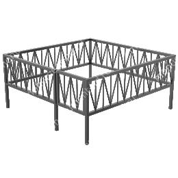 Сварная ограда ОС-011 200х180 см.