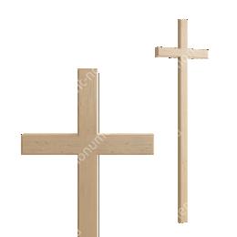 Деревянный крест на могилу ДкС - 003 сосна 210х70х5 см