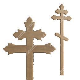 Деревянный крест на могилу ДкД - 013 дуб 210х70х5 см
