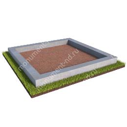Бетонный цоколь на могилу БЦ-001 # 200х180 см