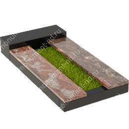 Накладная плита на цветник Цвт-012  цвет 4 варианта 3х25х100 см./3х25х100 см.
