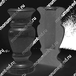 Полуваза на могилу из гранита-017 гранит цвет чёрный 25х7 см