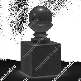 Шар из гранита Ш-003 гранит цвет чёрный/красный/серый от ø 10 см