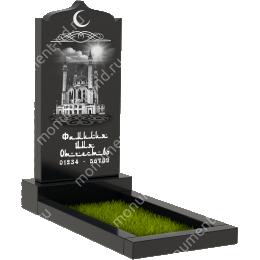 Мусульманский памятник М-011 цвет черный 100*50*5