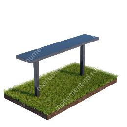 Стол и лавочка Л-004 80х100х20 см