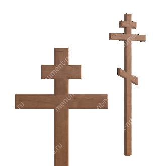 Деревянный крест на могилу ДкД - 001 дуб 210х70х5 см 2