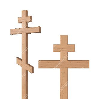 Деревянный крест на могилу ДкС - 001 сосна 210х70х5 см 2