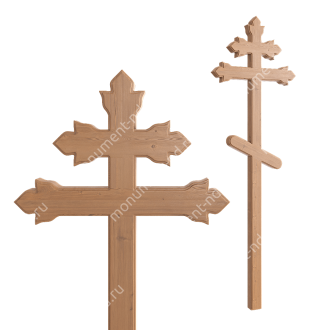 Деревянный крест на могилу ДкС - 013 сосна 210х90х5 см 2
