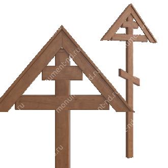 Деревянный крест на могилу ДкД - 002 дуб 210х70х5 см 2