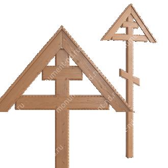Деревянный крест на могилу ДкС - 011 сосна 210х90х5 см 2