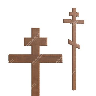 Деревянный крест на могилу ДкД - 004 дуб 210х70х5 см 2