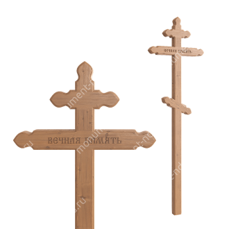 Деревянный крест на могилу ДкС - 009 сосна 210х70х5 см 2