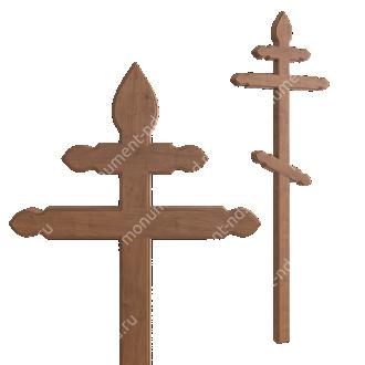Деревянный крест на могилу ДкД - 012 дуб 210х70х5 см 2
