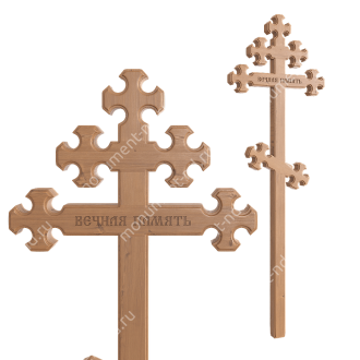 Деревянный крест на могилу ДкС - 010 сосна 210х70х5 см 2