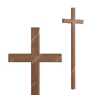 Деревянный крест на могилу ДкД - 003 дуб 210х70х5 см 2