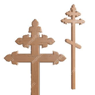 Деревянный крест на могилу ДкС - 014 сосна 210х90х5 см 2