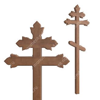 Деревянный крест на могилу ДкД - 013 дуб 210х70х5 см 2