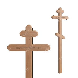 Деревянный крест на могилу ДкС - 008 сосна 210х70х5 см 2