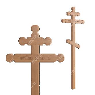 Деревянный крест на могилу ДкС - 007 сосна 210х70х5 см 2