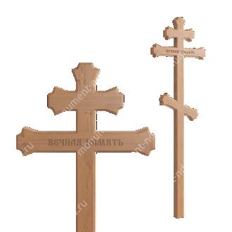 Деревянный крест на могилу ДкС - 006 сосна 210х70х5 см 2