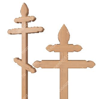 Деревянный крест на могилу ДкС - 012 сосна 210х90х5 см 2
