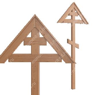 Деревянный крест на могилу ДкС - 002 сосна 210х70х5 см 2