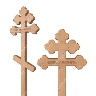 Деревянный крест на могилу ДкС - 005 сосна 210х70х5 см 2