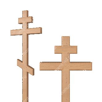 Деревянный крест на могилу ДкС - 004 сосна 210х70х5 см 2