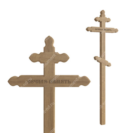 Деревянный крест на могилу ДкД - 009 1
