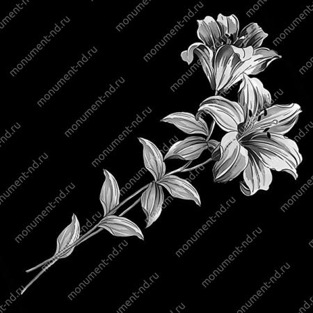 Гравировка цветы Цв-065