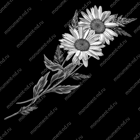 Гравировка цветы Цв-009