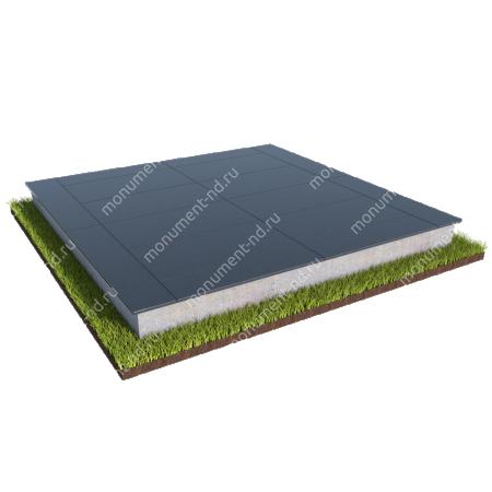 Бетонный цоколь на могилу полный подиум БЦПП-003_1 # 1