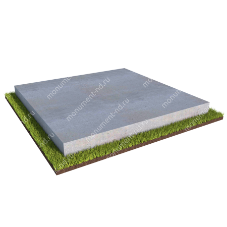 Бетонный цоколь на могилу полный подиум БЦПП-003 # 1
