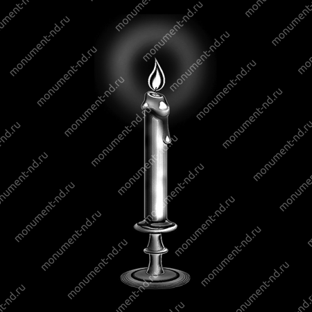 Гравировка свечи С-027