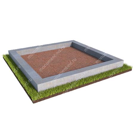 Бетонный цоколь на могилу полный подиум БЦ-001_4 # 3