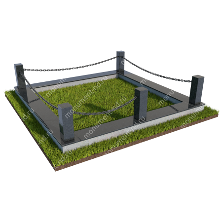 Гранитная ограда ГО-031 1