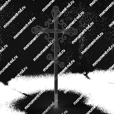 Металлический крест на могилу Кр - 004